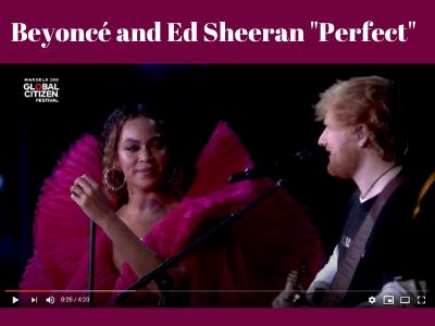 Beyoncé and Ed Sheeran Perfect
