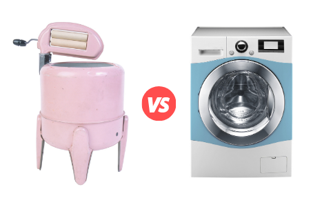 Antique Washing Machine vs New Washing Machine