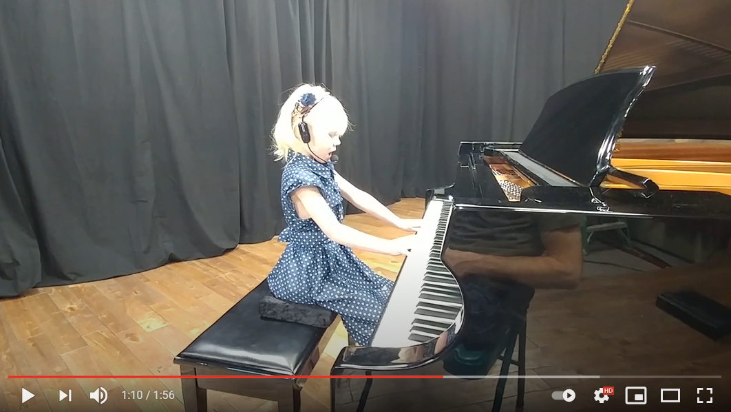 Let it Be 6 year old playing and singing