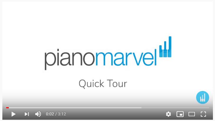 Piano Marvel Quick Tour