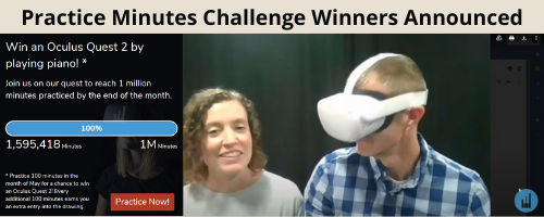 Practice Minutes Challenge Winners Announced