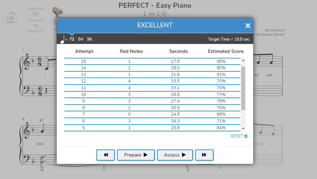 piano marvel prepare mode, practice mode