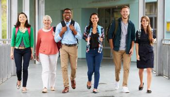 Teachers building relationships