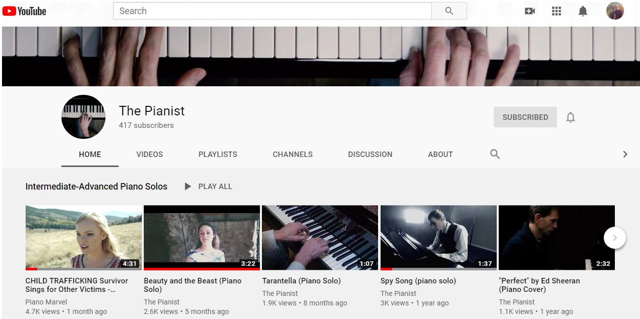 The Pianist YouTube