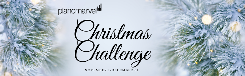 Piano Marvel Christmas Challenge Going Strong