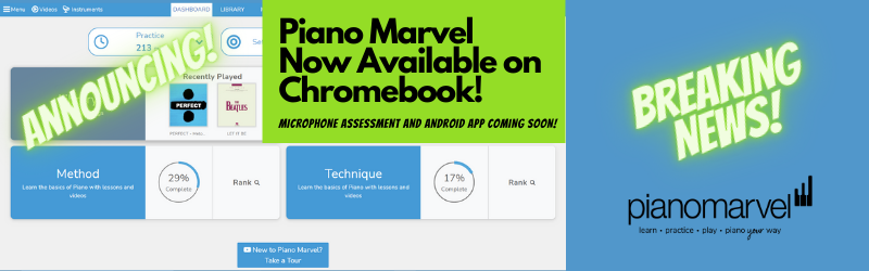 Piano Marvel is Now Available on Chromebook!